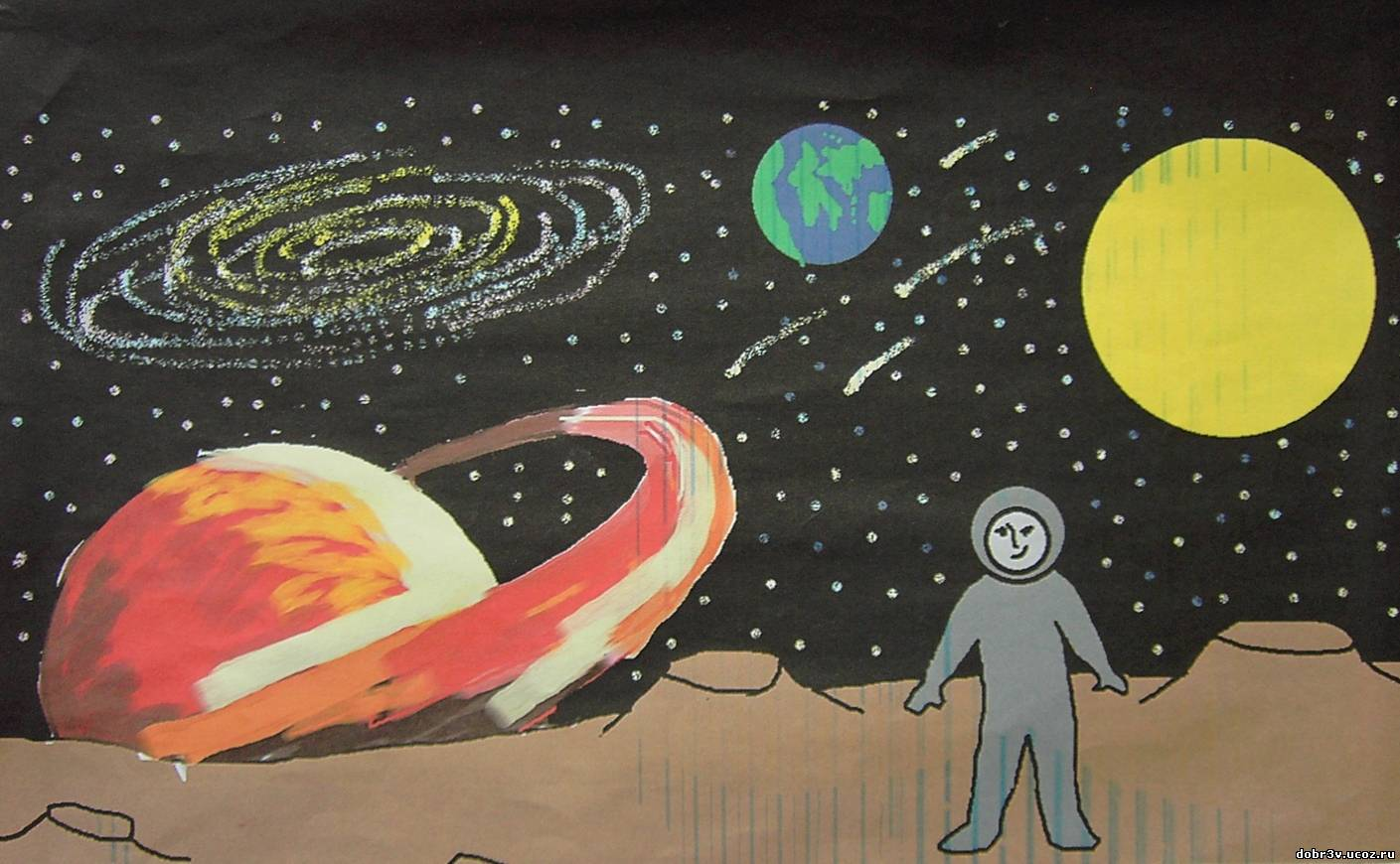 Рисунки о космосе 23 фотография